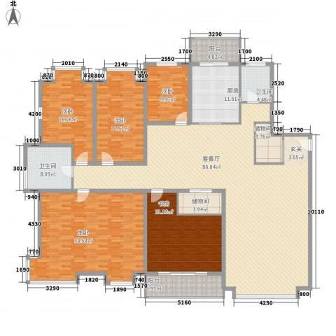 裕丰花园5室1厅2卫1厨322.00㎡户型图