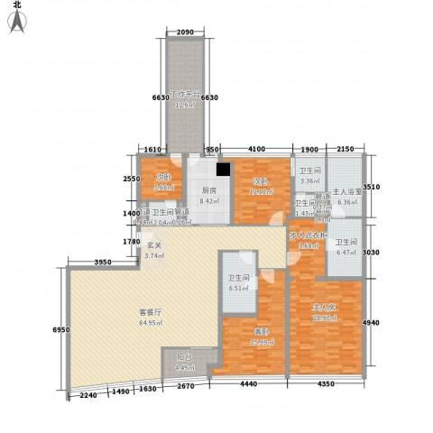 侨鑫汇悦台3室1厅5卫1厨252.00㎡户型图