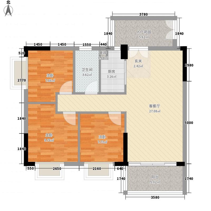 百晟汇翠湾99.04㎡百晟汇翠湾户型图1期30幢标准层02户型3室2厅1卫1厨户型3室2厅1卫1厨