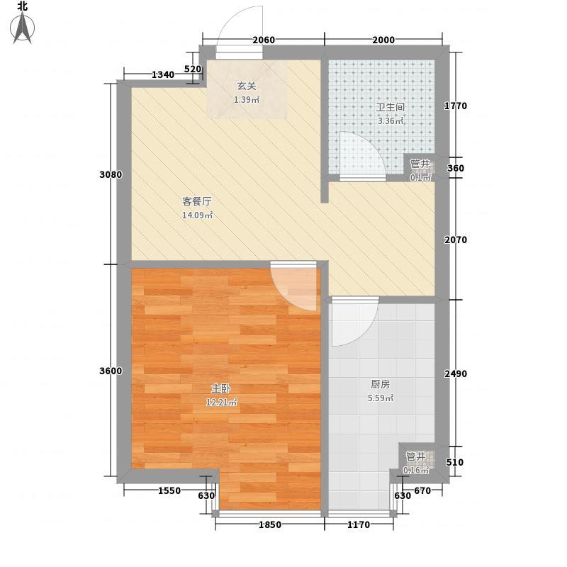 中地名都47.82㎡中地名都户型图1室2厅1卫户型10室