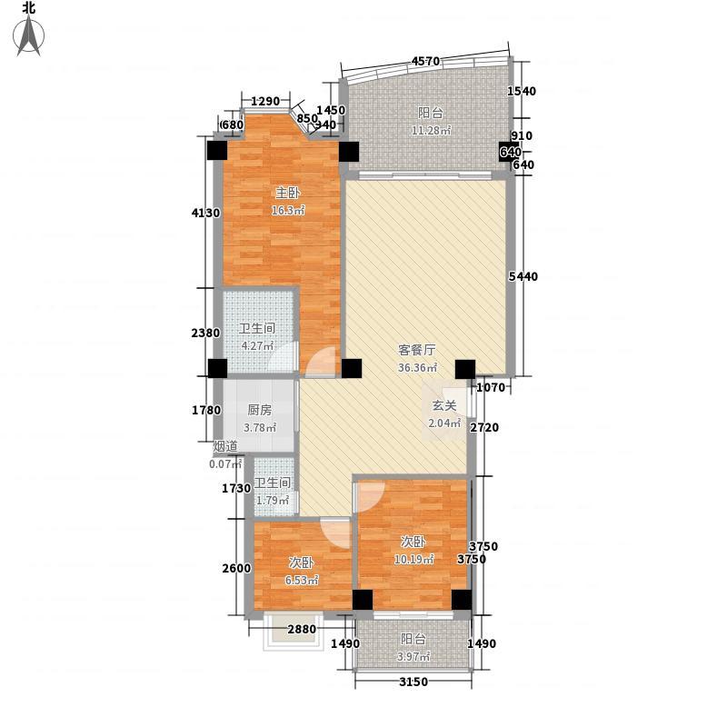 银城明珠133.00㎡户型3室