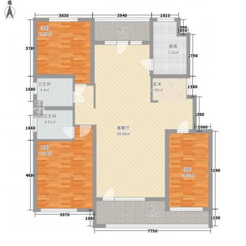 江户雅致3室1厅2卫1厨183.00㎡户型图