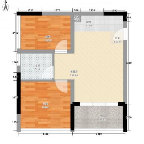 天烽新地2室1厅1卫0厨65.00㎡户型图