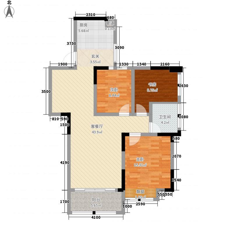 湘江学府3室1厅1卫0厨124.00㎡户型图