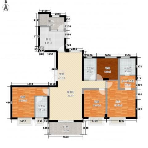 ART蓝山4室1厅3卫1厨178.00㎡户型图