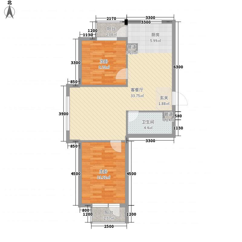 糖果社区二期2室1厅1卫0厨72.00㎡户型图