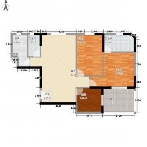 兴合坊3室1厅2卫1厨116.00㎡户型图