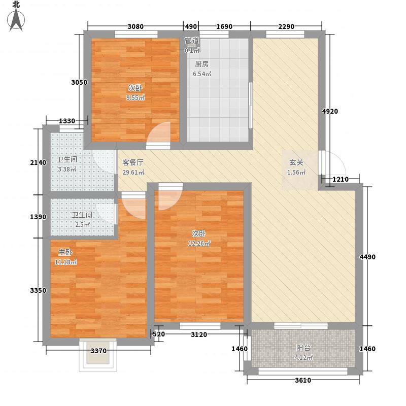 星达115.00㎡小区户型3室