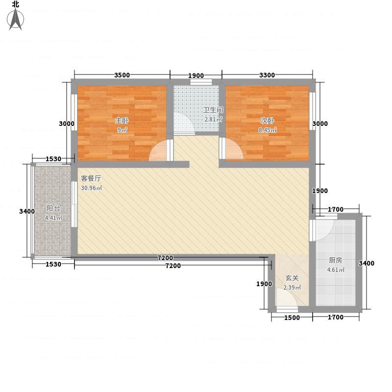 北京悦4号楼D1户型