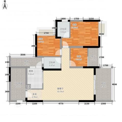 派3室1厅2卫1厨115.00㎡户型图