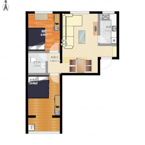 水岸金城1室1厅1卫1厨82.00㎡户型图