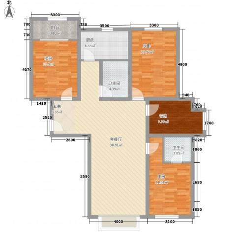 梧桐花园二期4室1厅2卫1厨145.00㎡户型图