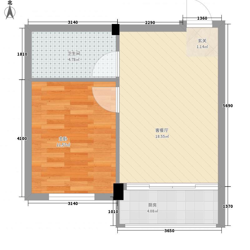 天华佳苑55.52㎡天华佳苑户型图1室1厅1卫1厨户型10室