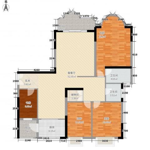 逸景翠园御豪轩4室1厅2卫1厨185.00㎡户型图