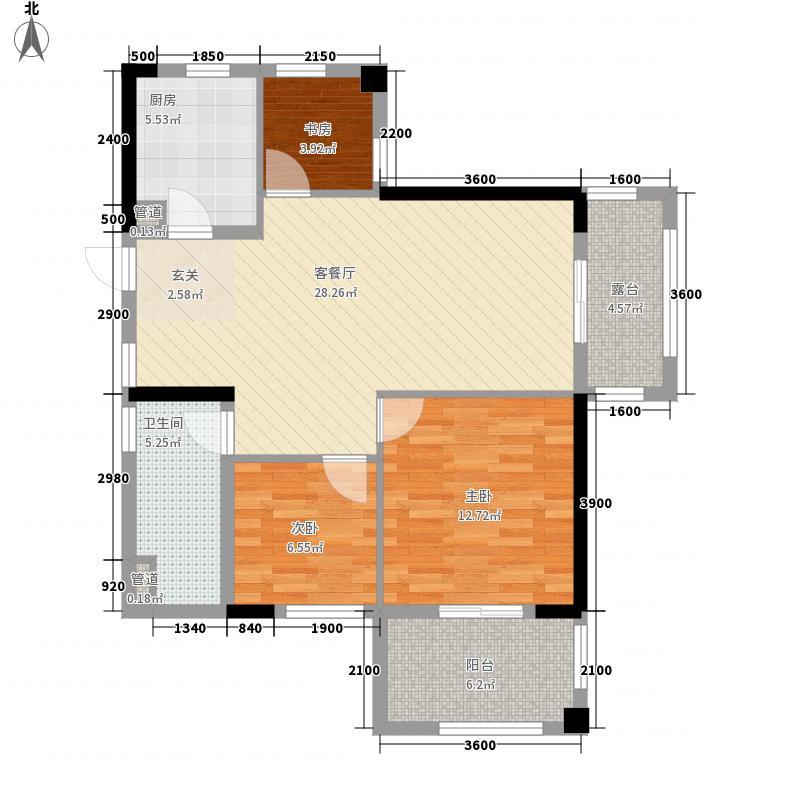 华门新西湖小镇95.00㎡华门新西湖小镇户型图D2户型3室2厅1卫1厨户型3室2厅1卫1厨