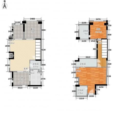 凯茵新城2室1厅4卫1厨145.00㎡户型图