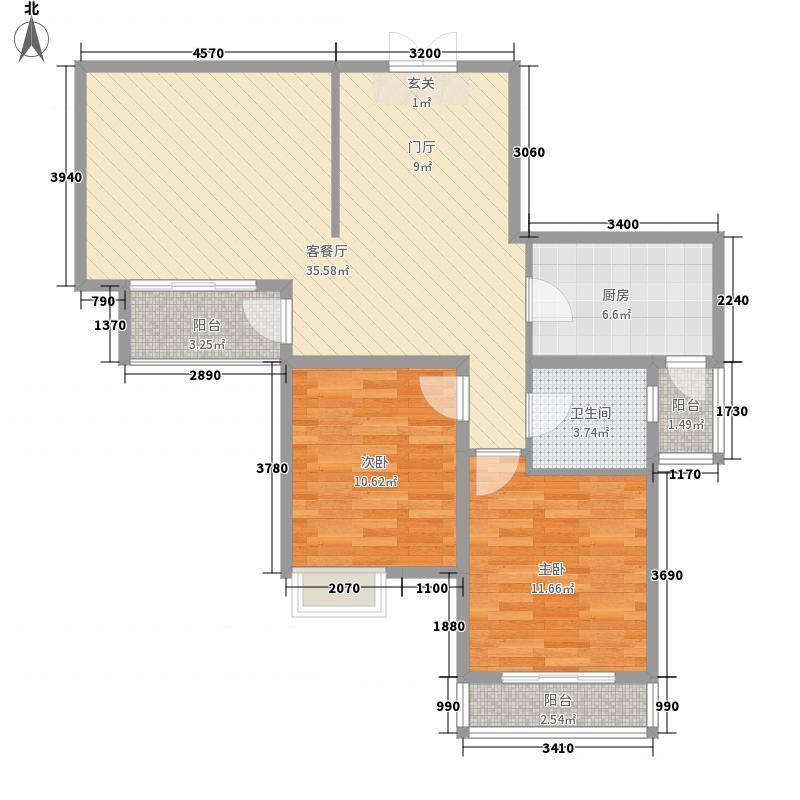 北都花园100.00㎡北都花园2室户型2室