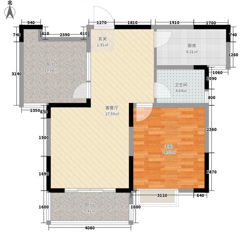 北都花园95.00㎡北都花园2室户型2室