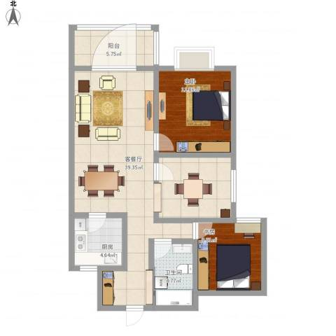 华悦尚城1042室1厅1卫1厨109.00㎡户型图