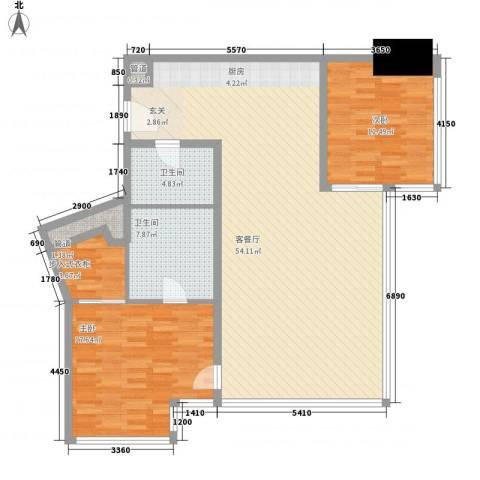 苏宁广场2室1厅2卫0厨144.00㎡户型图