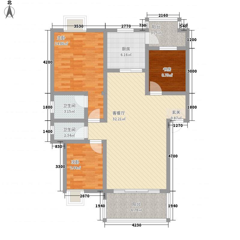 金宝兴业家园户型3室