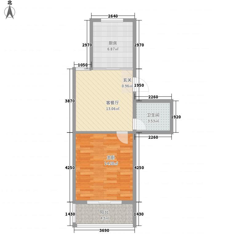 成业家园5.30㎡户型1室1厅1卫1厨