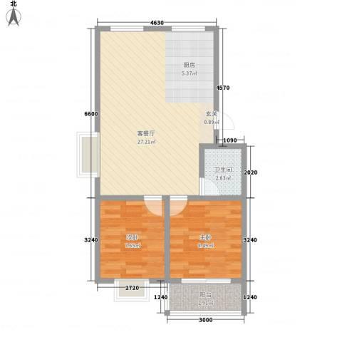 成业家园2室1厅1卫0厨69.00㎡户型图