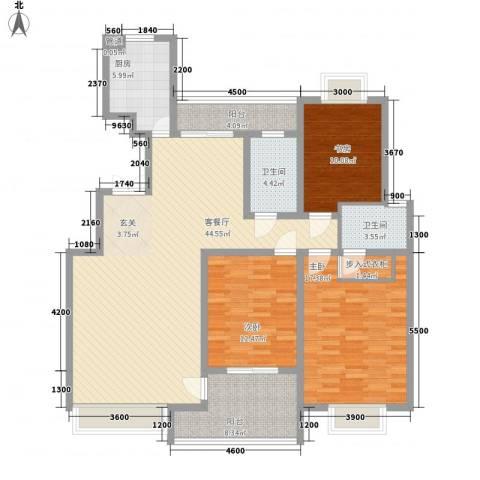御花苑海逸湾3室1厅2卫1厨161.00㎡户型图