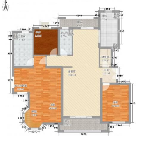 金桥瑞仕花园3室1厅2卫1厨180.00㎡户型图