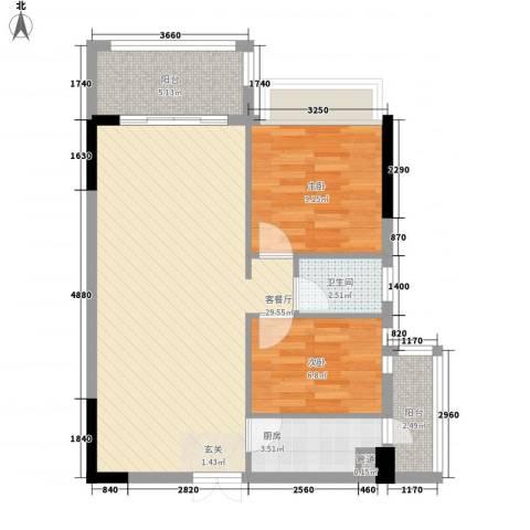 兴合坊2室1厅1卫1厨59.28㎡户型图