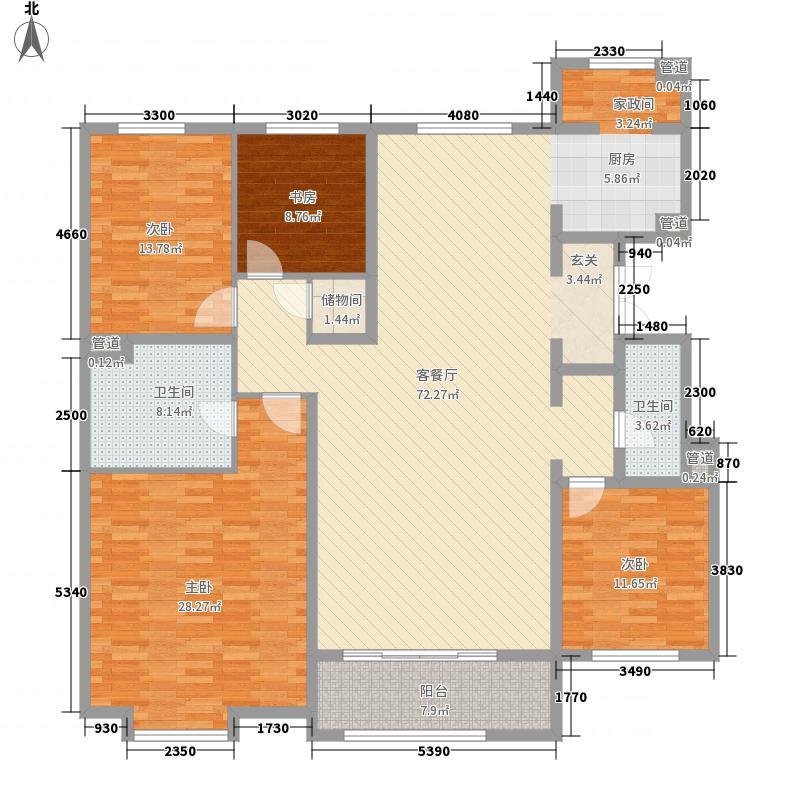 中冶世家13.00㎡A2户型4室2厅2卫1厨