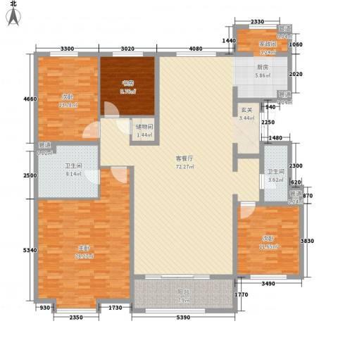 中冶世家4室1厅2卫0厨156.26㎡户型图