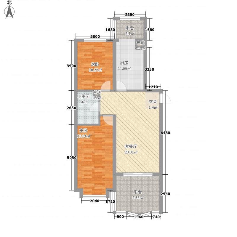 南极国际维也纳花园(三期)106.31㎡南极国际维也纳花园(三期)户型图16#户型图k2室1厅1卫户型2室1厅1卫