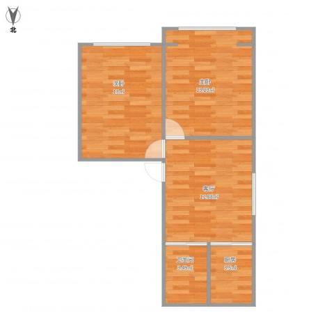 真光八街坊2室1厅1卫1厨62.00㎡户型图
