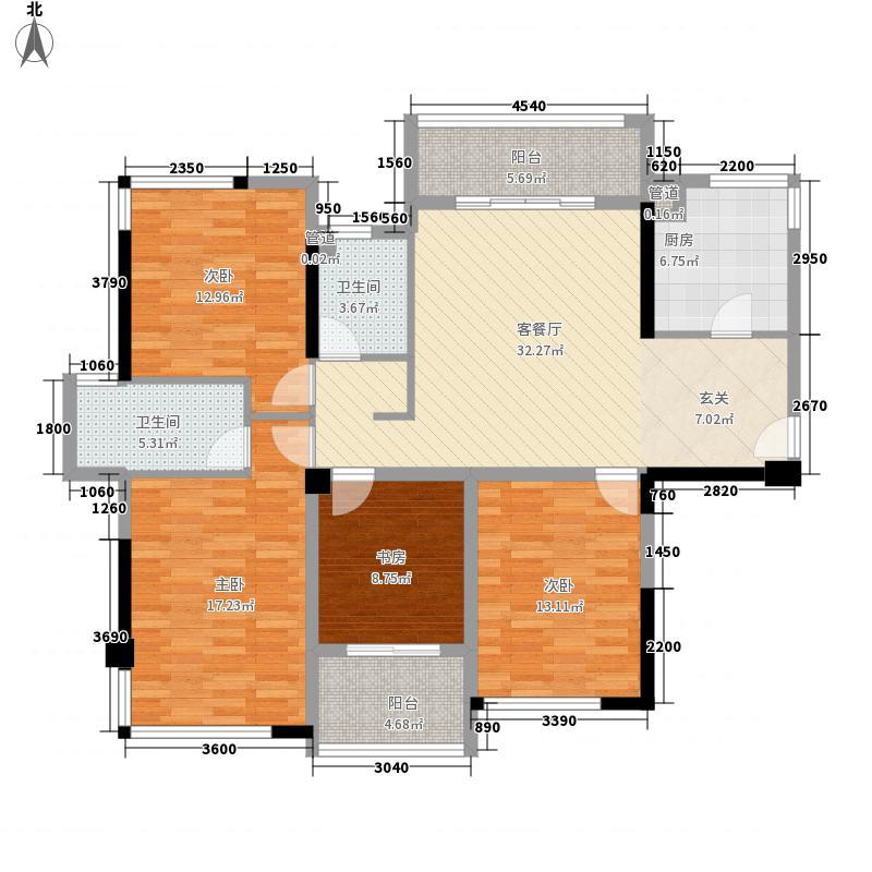 隆源雅居122.77㎡3号楼1、2单元D户型4室2厅2卫1厨