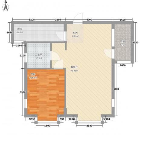 一品佳地(瓦房店)1室1厅1卫1厨83.00㎡户型图