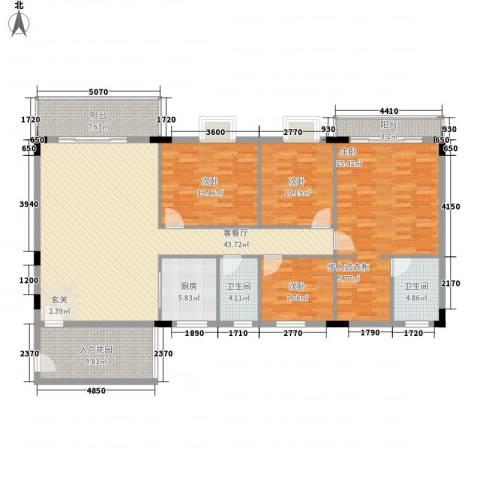 启明苑4室1厅2卫1厨164.00㎡户型图