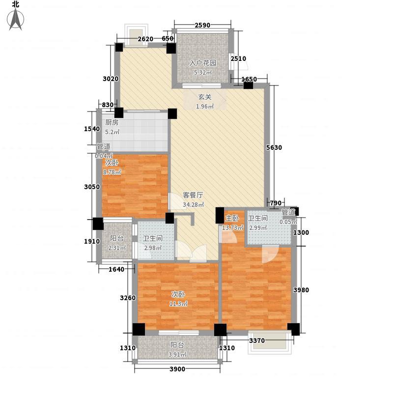 江浩尚景园131.00㎡江浩尚景园户型图G2户型3室2厅2卫1厨户型3室2厅2卫1厨