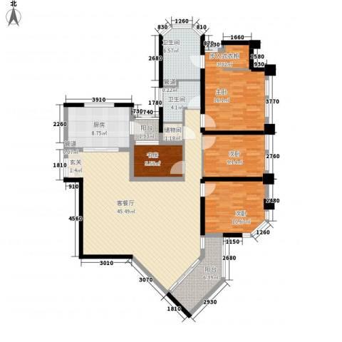 上海绿城三期4室1厅2卫1厨167.00㎡户型图