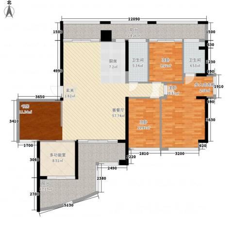 海上明珠3室1厅2卫0厨209.00㎡户型图