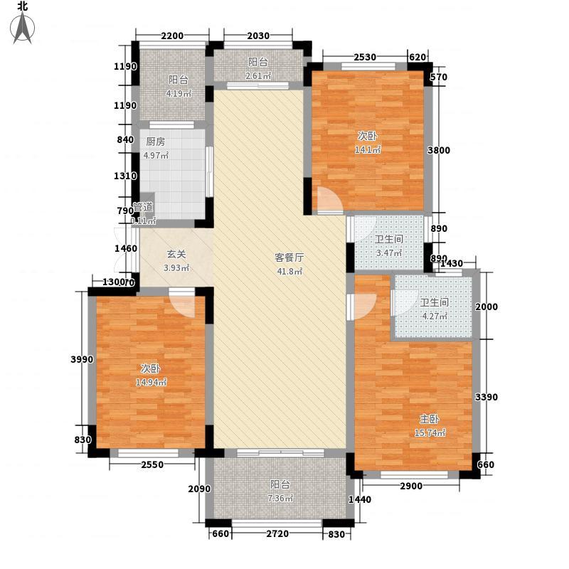 新纪元・香墅143.30㎡户型3室2厅2卫1厨
