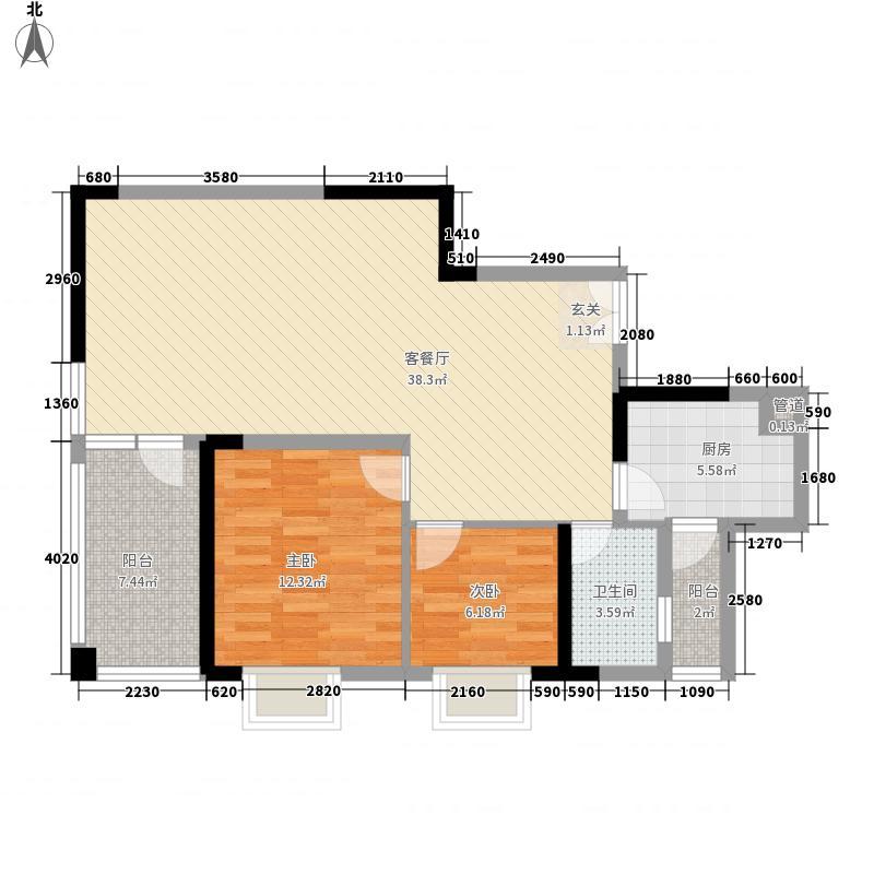 金阳新世界花园2.20㎡三期B4栋1、4号户型2室1厅1卫1厨