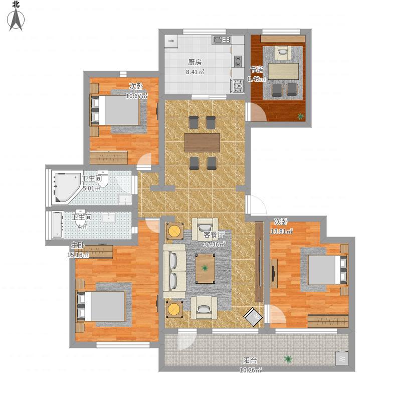 金色兰庭三室两厅