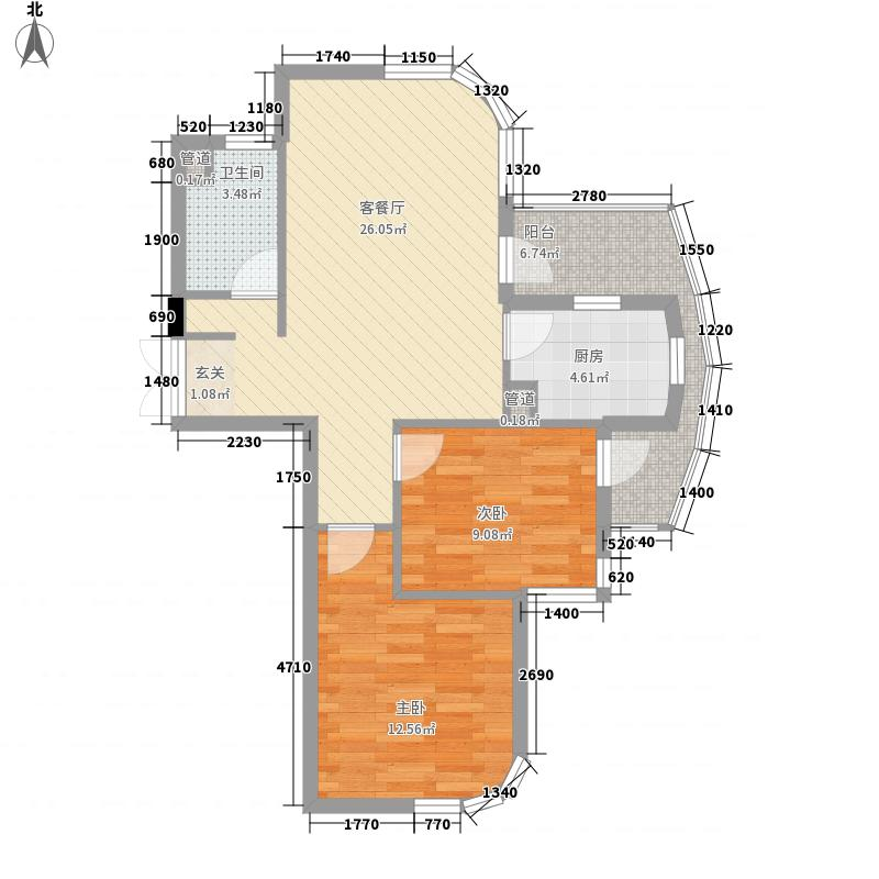 新绿园89.00㎡新绿园户型图2室户型图2室2厅1卫1厨户型2室2厅1卫1厨