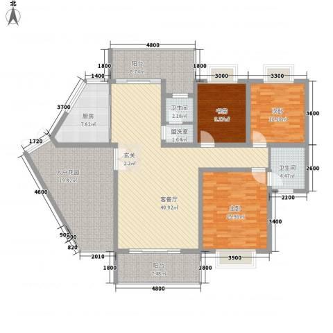 龙潭春天商住楼3室2厅2卫1厨138.00㎡户型图
