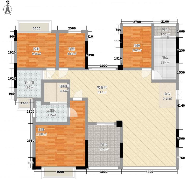 雅郡花园170.58㎡雅郡花园户型图4室2厅2卫1厨户型10室