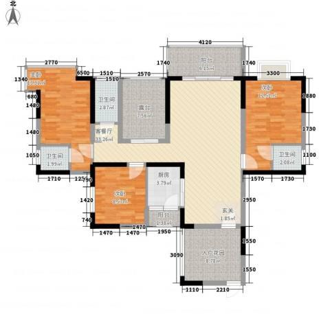 和瑞深圳青年3室1厅3卫1厨121.00㎡户型图