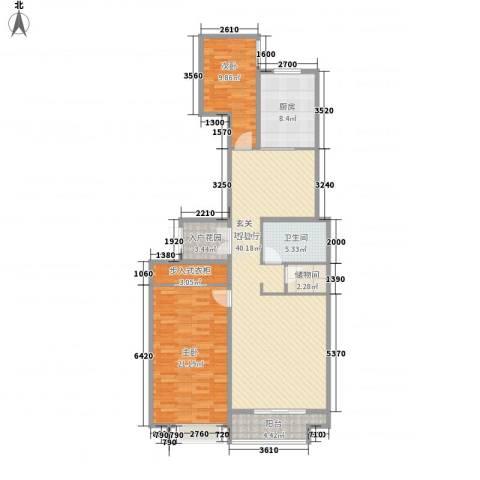 恒实城市广场・新城市花园2室1厅1卫1厨139.00㎡户型图