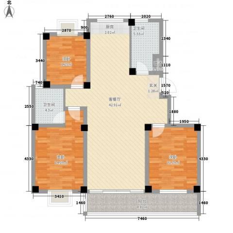 淮左郡庄园3室1厅2卫0厨138.00㎡户型图