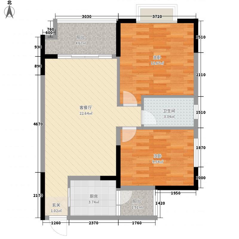一新国际社区82.45㎡一新国际社区3号楼E1两房两厅单卫2室2厅1卫1厨82.45㎡户型2室2厅1卫1厨